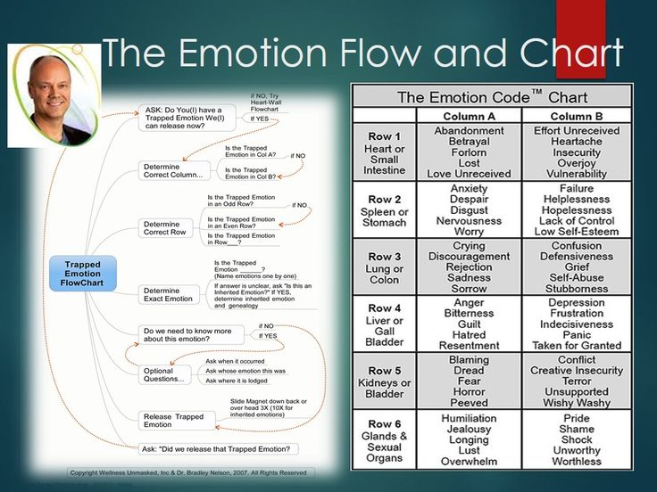 Emotion Code Flow Chart